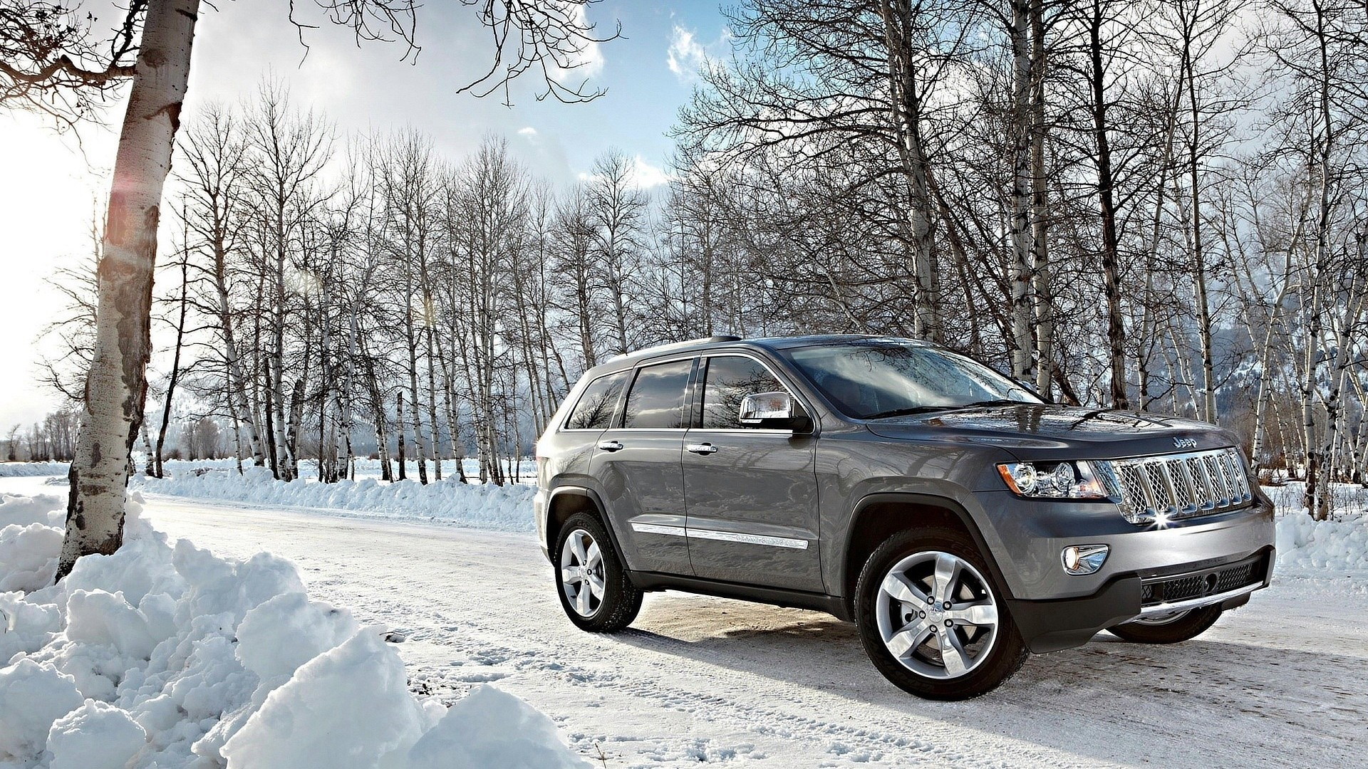 Jeep Grand Cherokee In Snow 1920x1080