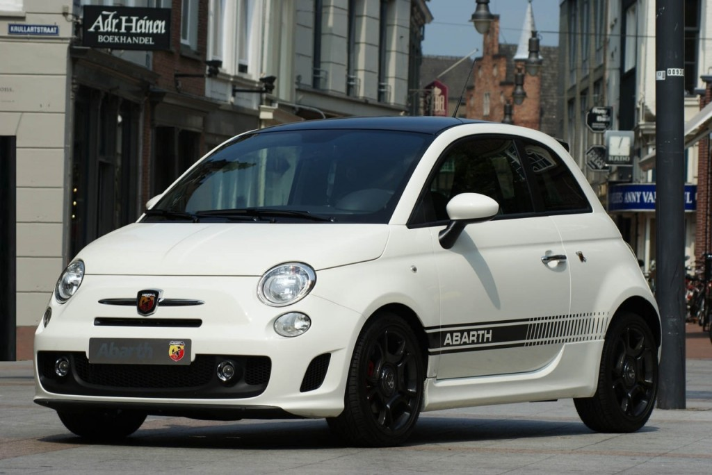 White Abarth Wallpaper