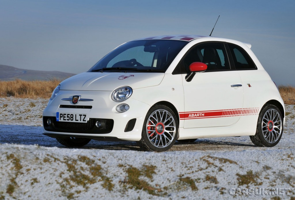 Abarth 500 White-Wallpaper