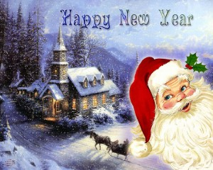 Happy Christmas New Year Wallpaper 2014
