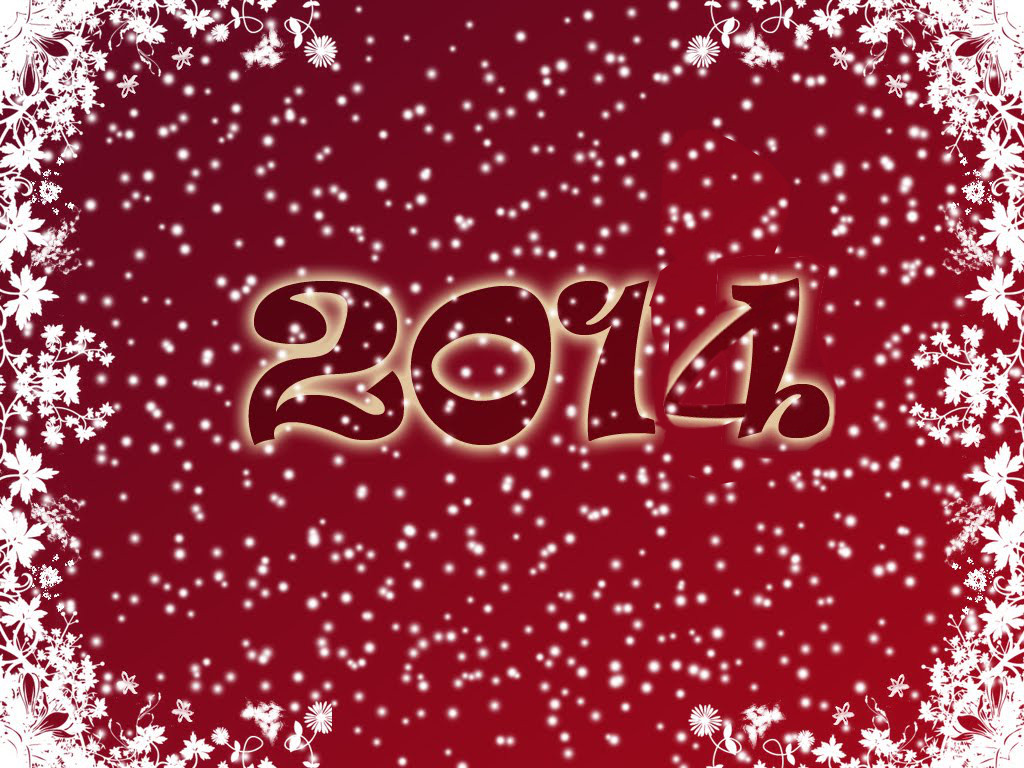 2014 New Year Red Wallpaper