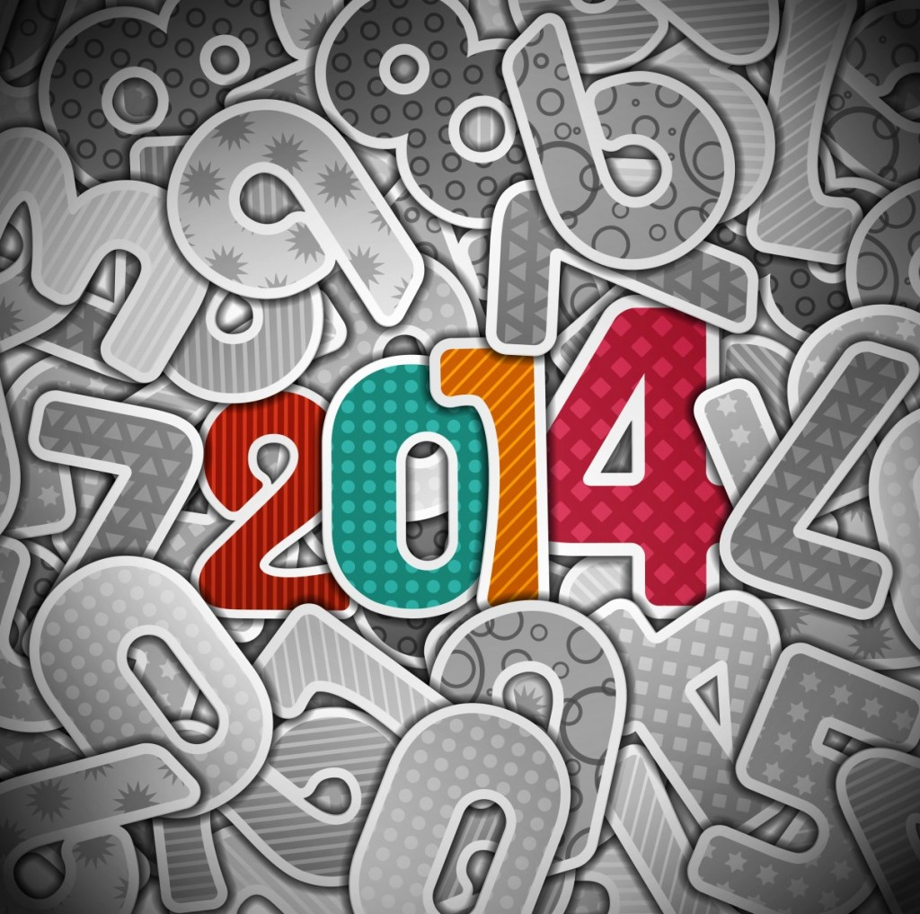 Beautiful Happy New Year 2014 HD Wallpaper