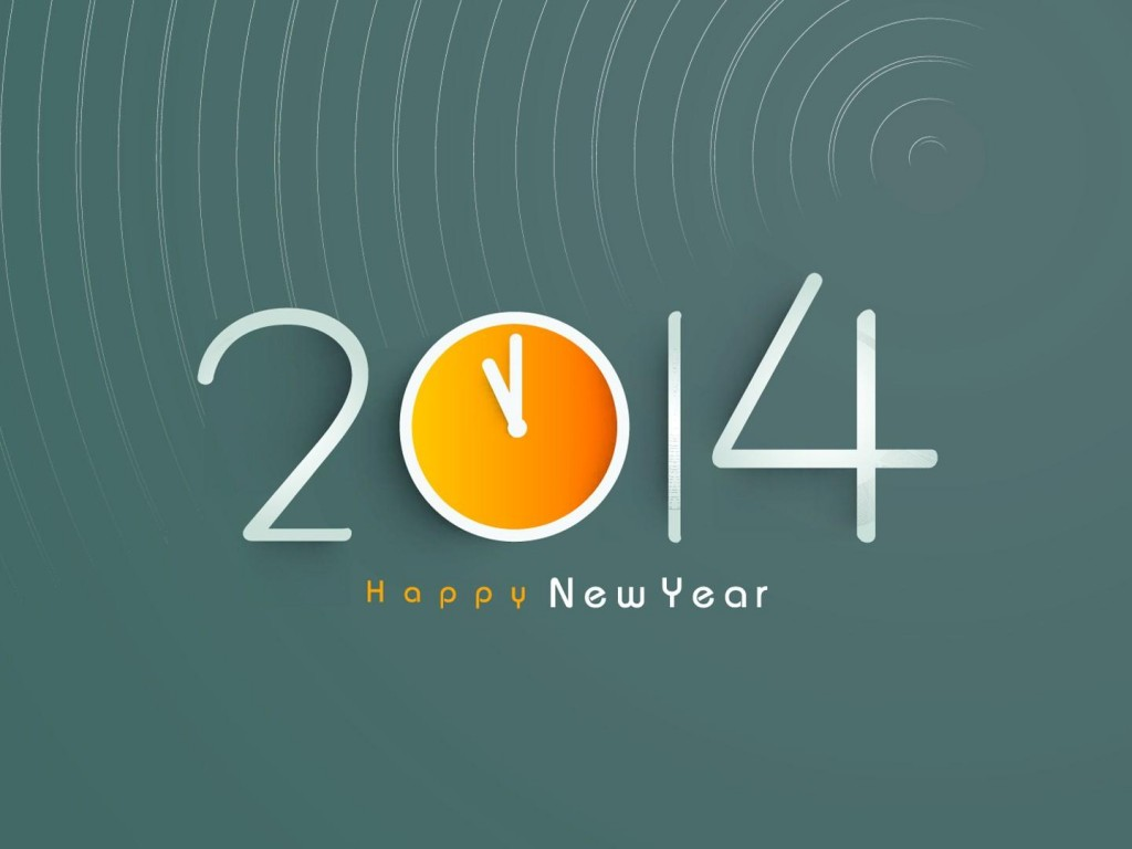 New Year 2014 Wishes HD Wallpaper