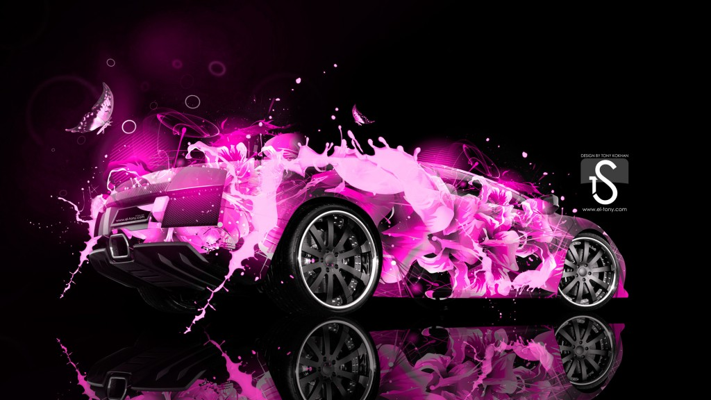 Abstract Lamborghini Murcielago HD Wallpaper