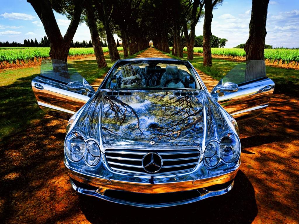 Abstract Mercedes Car HD Wallpaper
