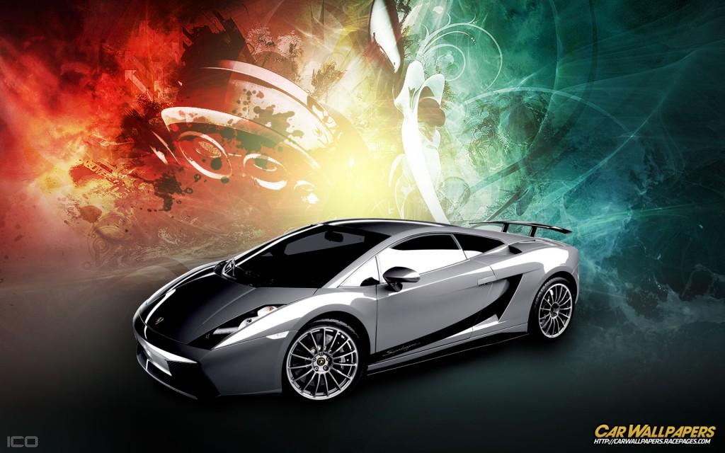 Abstract Silver Lamborghini HD Wallpaper