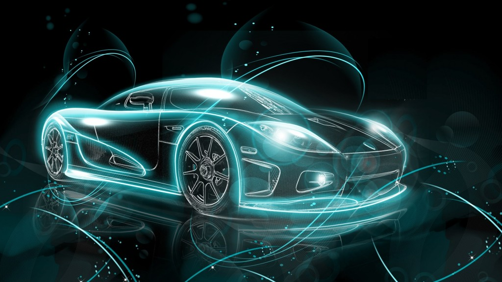 Abstract Sports Car HD Wallpaper
