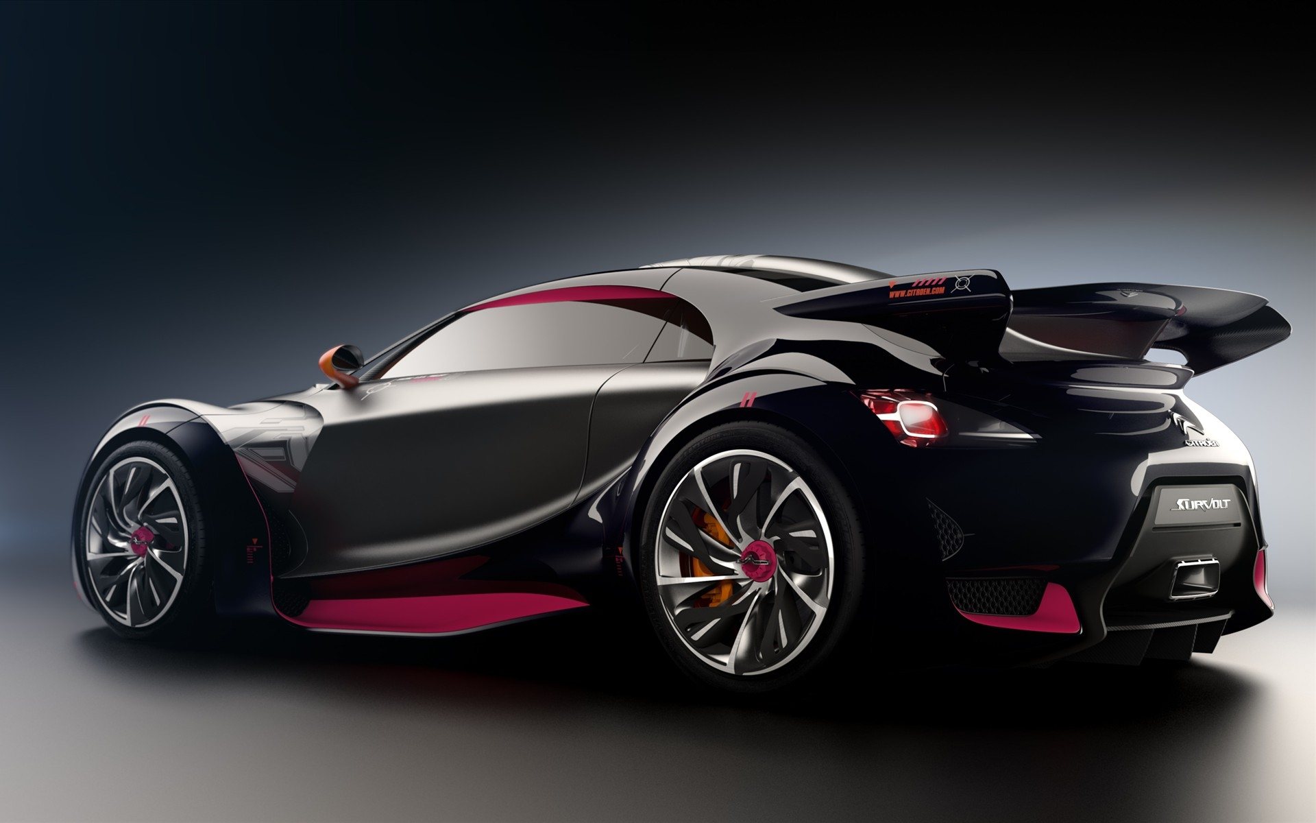 Black Citroen Sports Car HD Wallpaper