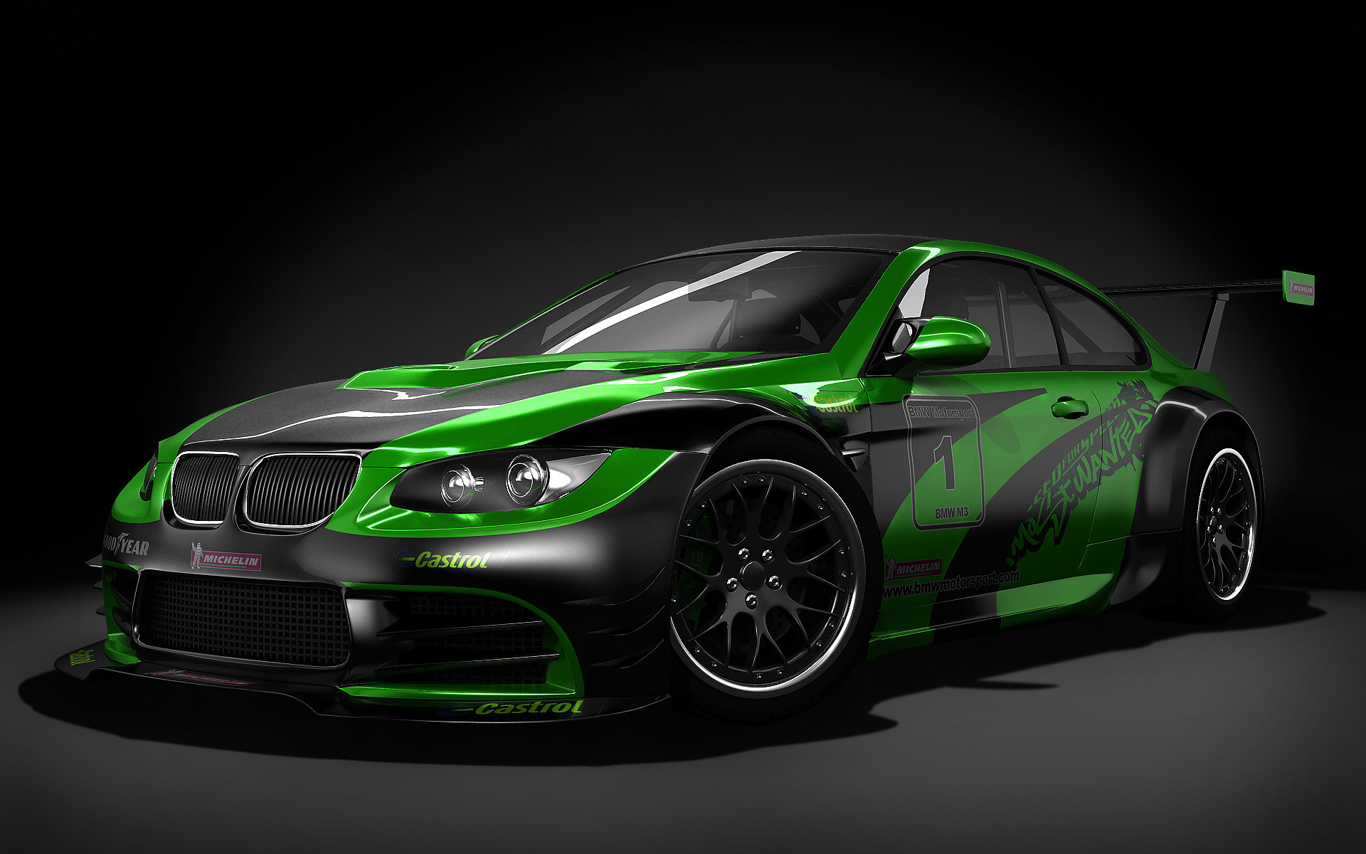 Black Green Modified Car Hd Wallpaper