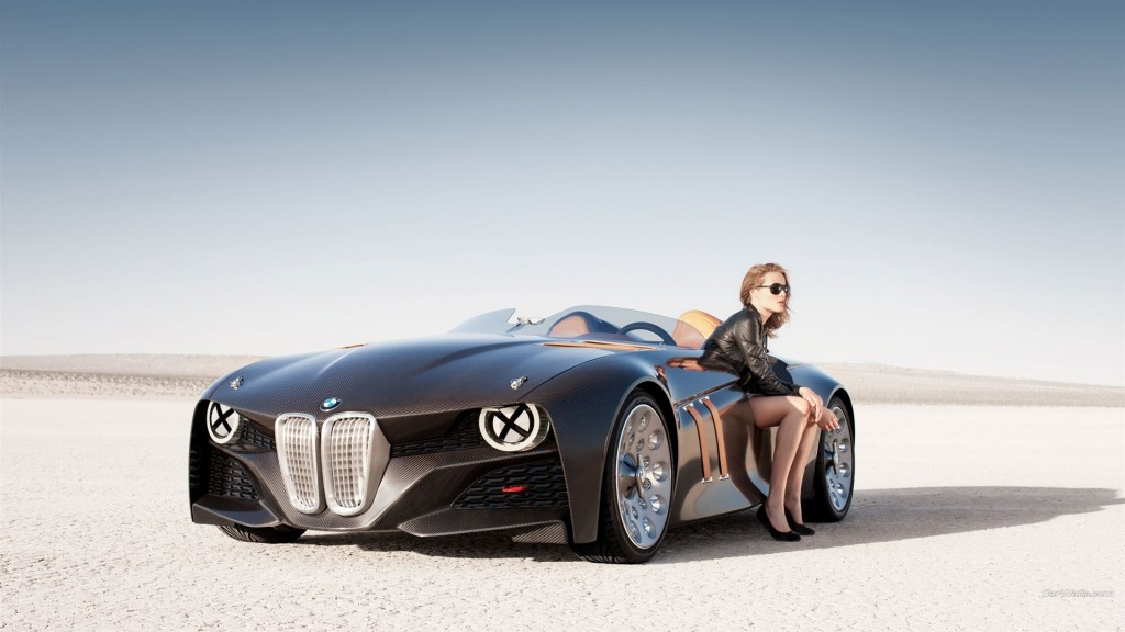 Black buggati And Girl HD Wallpaper
