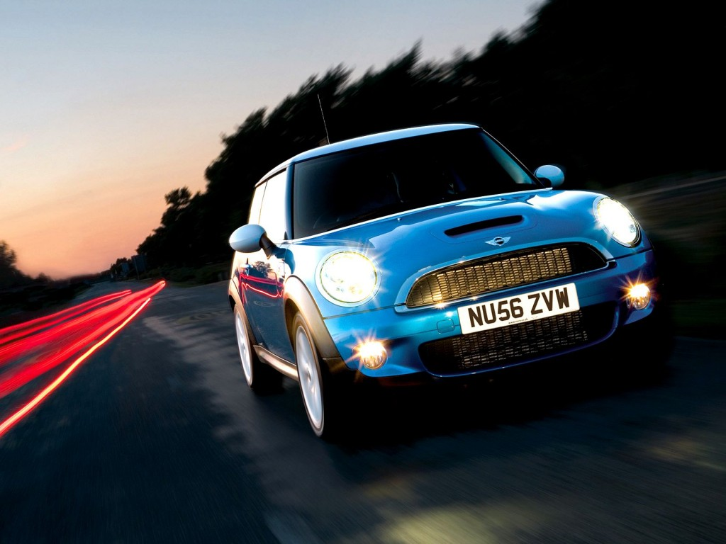 Blue Mini Cooper HD Wallpaper