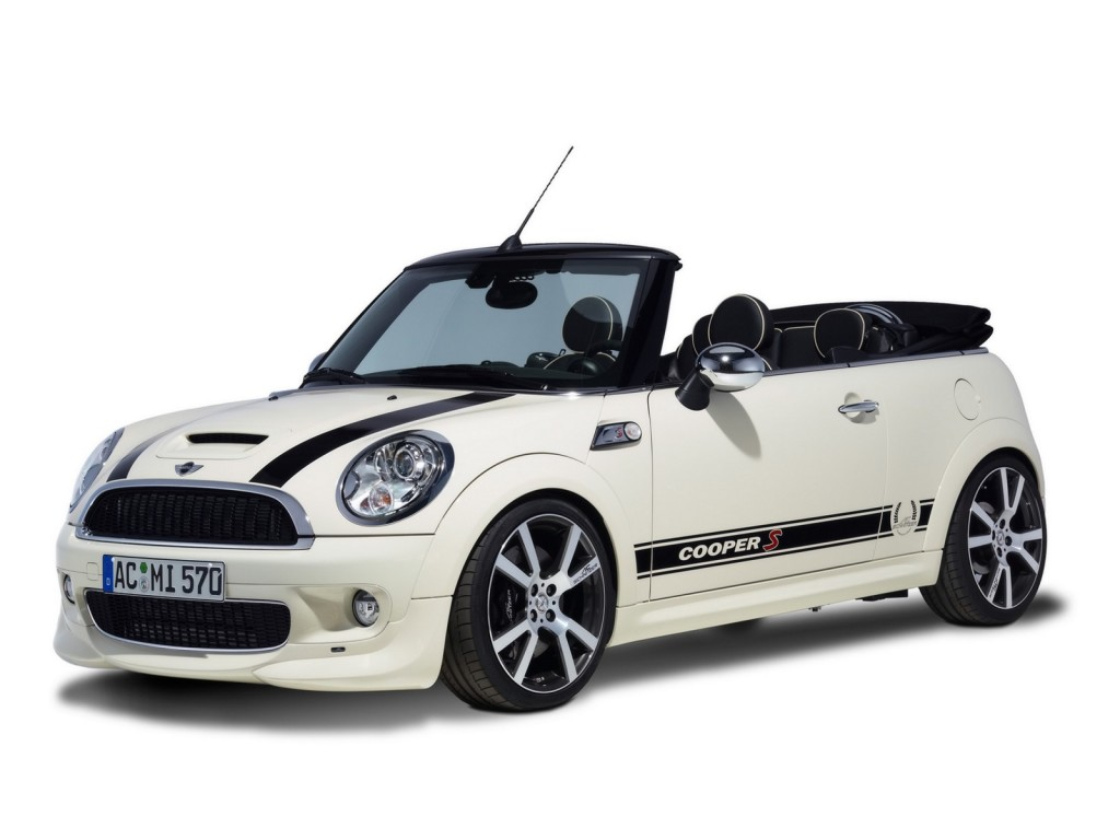 Dashing White Mini Cooper HD Wallpaper