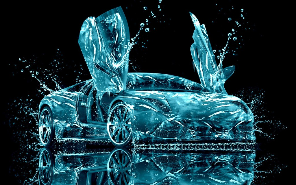 Lamborghini Water Abstract HD Wallpaper