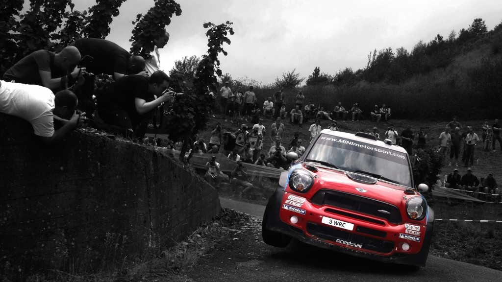 Mini Cooper In Race HD Wallpaper
