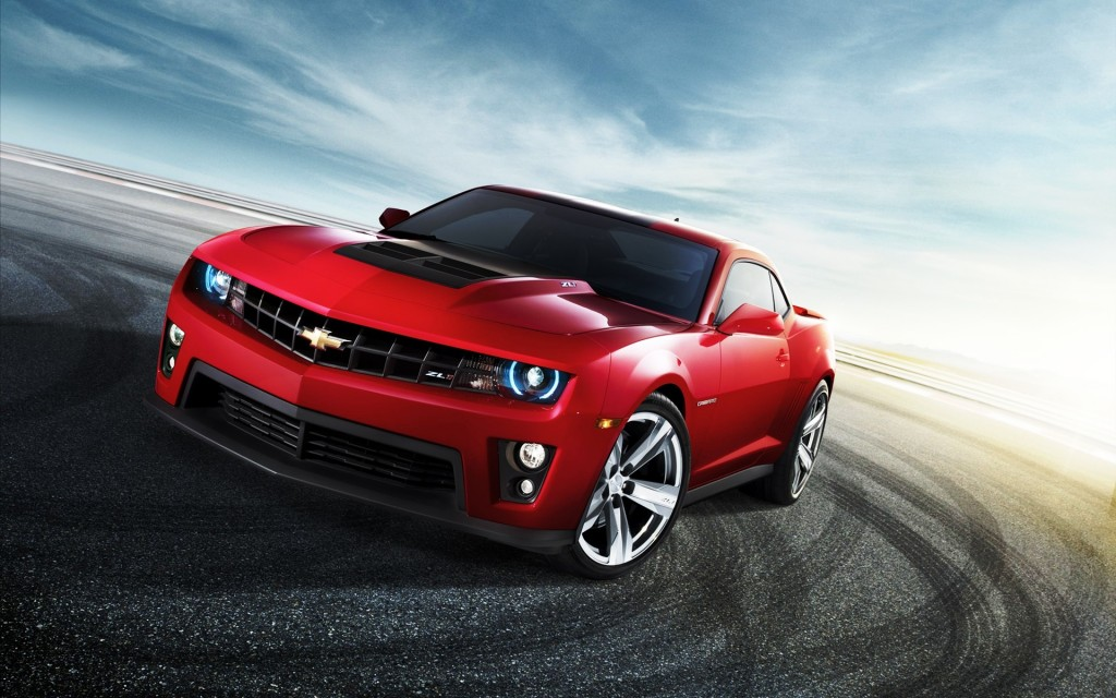 Red Chevrolet Camaro HD wallpaper