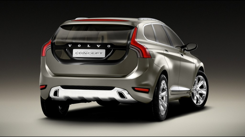 Volvo Concept Car Back View HD Wallpaper