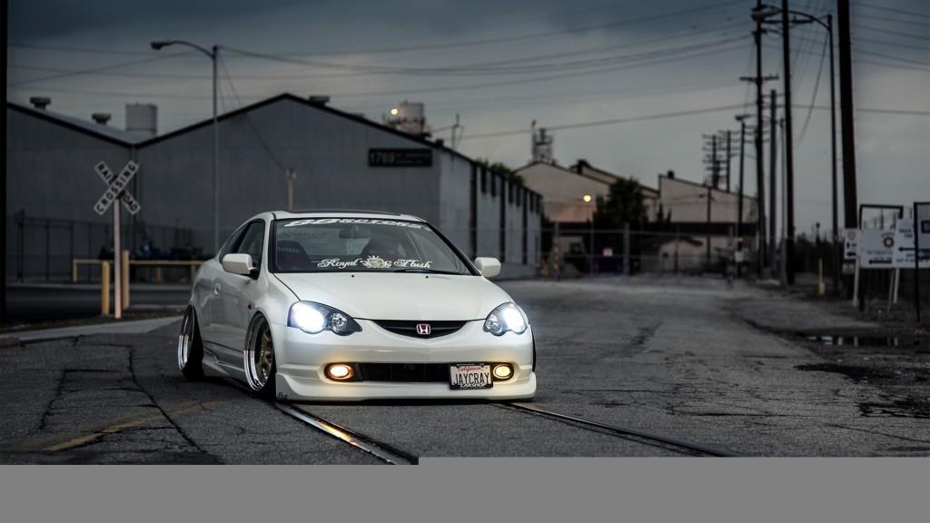 White Acura RSX HD Wallpaper