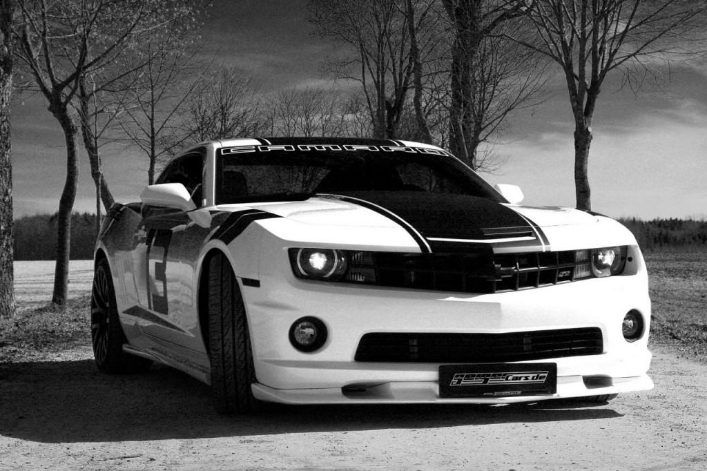 White Modified Chevrolet Camaro  HD Wallpaper