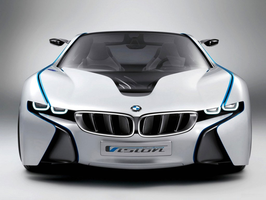 White and Blue BMW HD Wallpaper
