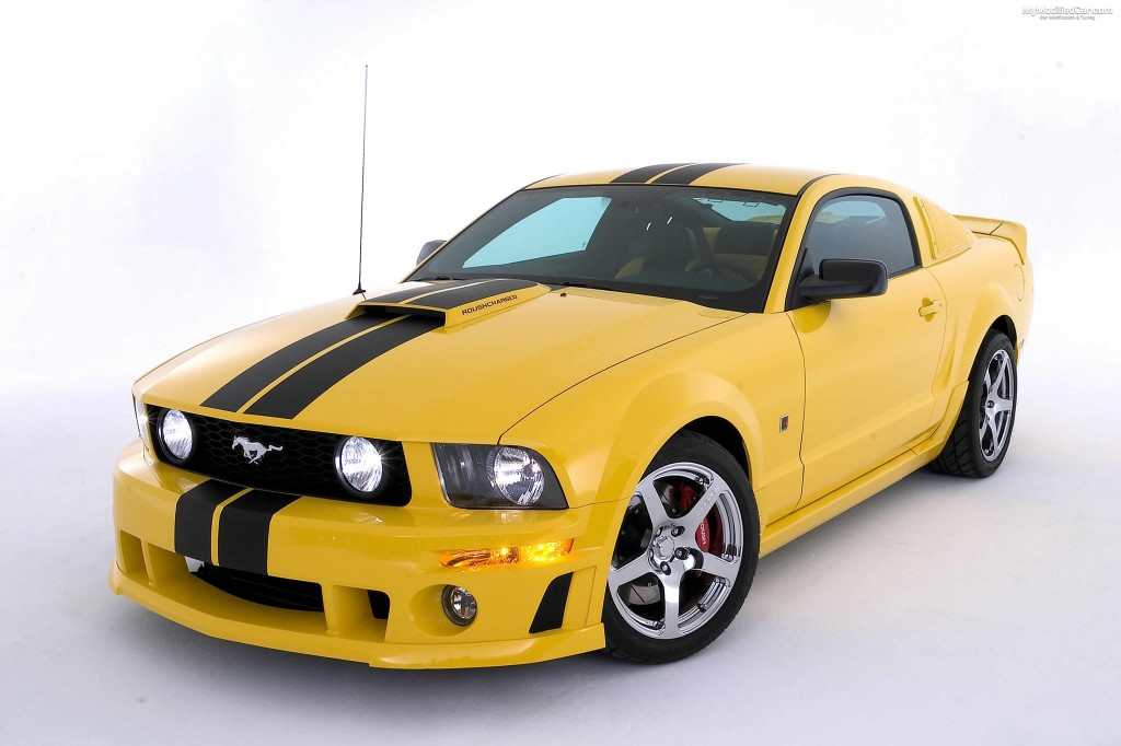Yellow Modified Ford Mustang HD Wallpaper