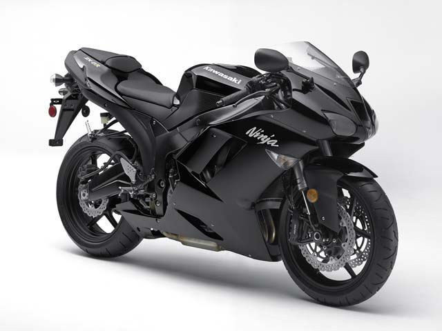 2008 New Kawasaki Ninja ZX6R Black HD Wallpaper