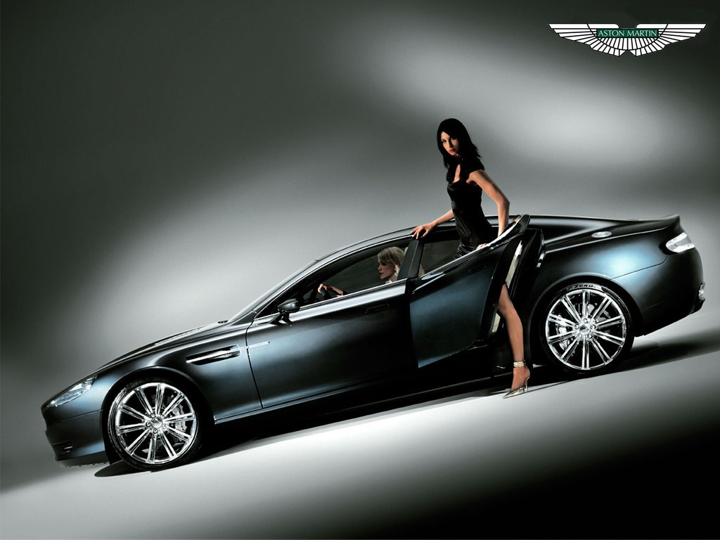Aston Martin With Girl's HD Wallpaper