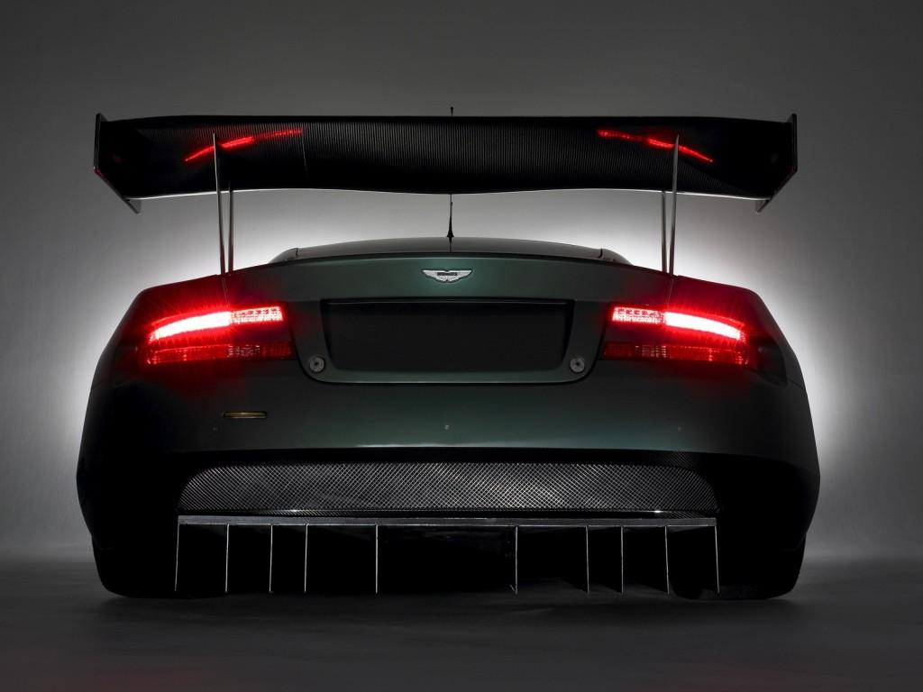 Black Aston Martin Rear View HD Wallpaper