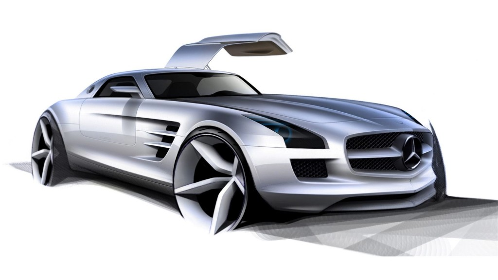 Silver Sports car HD