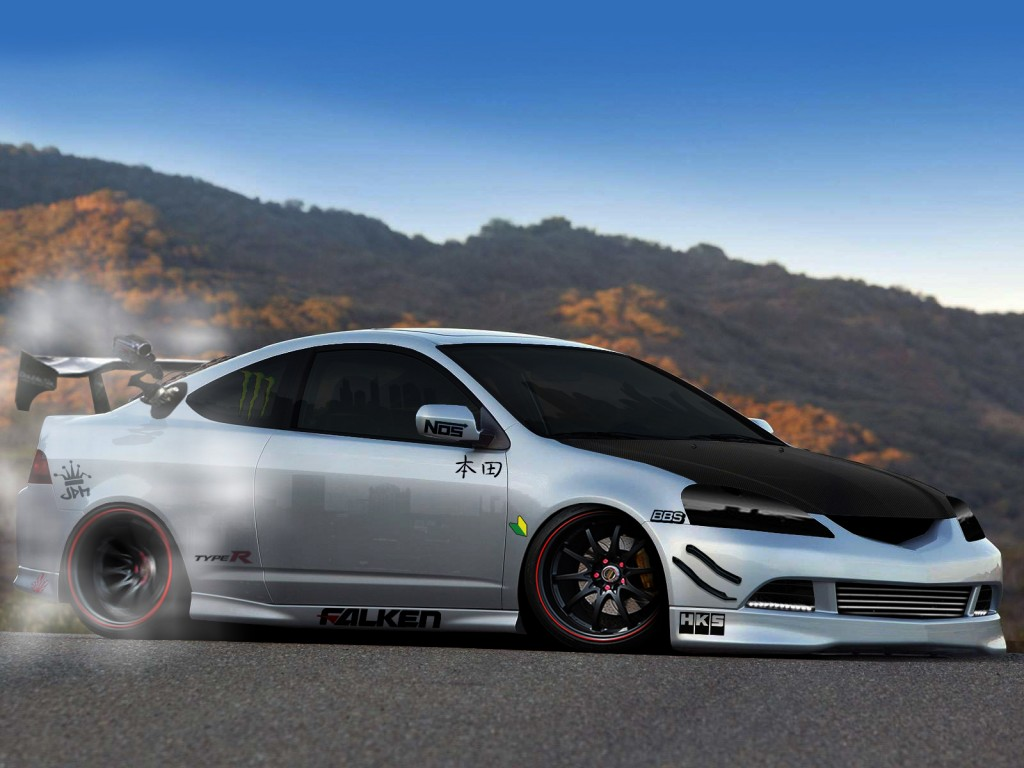 Drifting Acura RSX HD Wallpaper