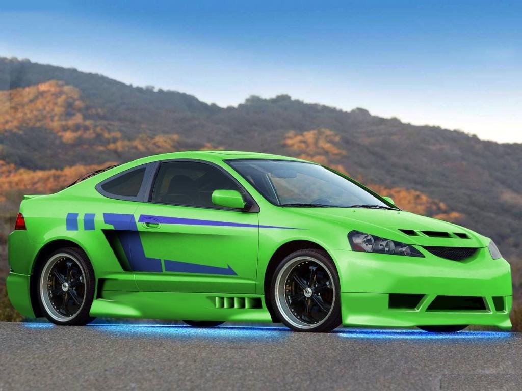Green Modified  Acura RSX HD Wallpaper