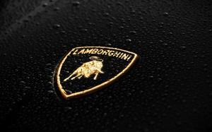 Lamborghini Golden Logo HD Wallpaper