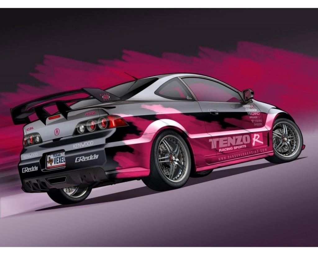 Modified Acura RSX HD Wallpaper