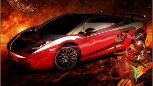 Red Hot Lamborghini HD Wallpaper