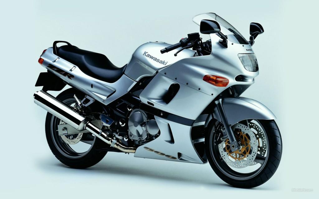 Silver Kawasaki Bike HD Wallpaper