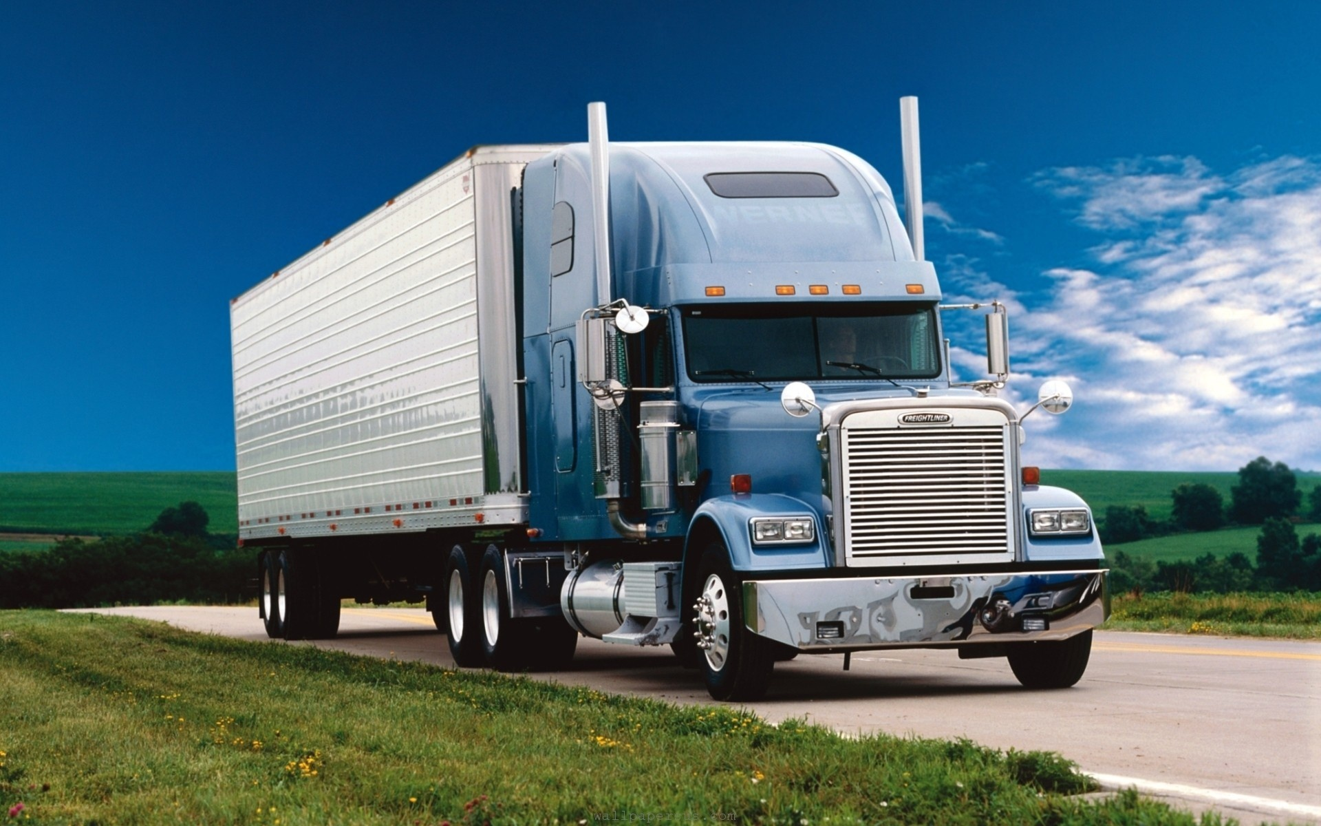 Download Truck On Road HD Wallpapers