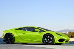 2014 Green Lamborghini Huracan HD Wallpaper