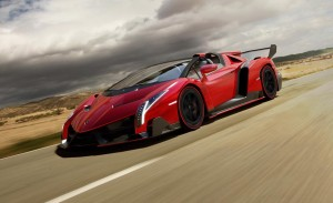 2014 Lamborghini Red Veneno HD Wallpaper