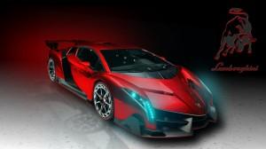 2014 Red Lamborghini Veneno HD Wallpaper