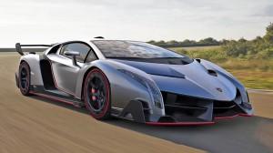 2014 Silver Lamborghini Veneno HD Wallpaper