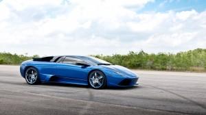 Blue Car On Runway