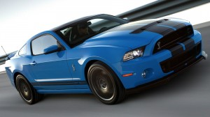 Blue Ford Mustang HD Wallpaper