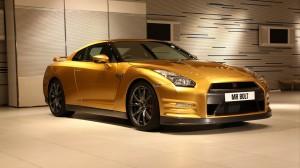 Golden Nissan GTR HD Wallpaper