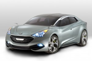 Hyundai Hybrid Car HD Wallpaper