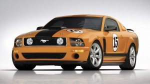 Orange Ford Car HD Wallpaper
