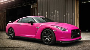 Pink GTR HD Wallpaper