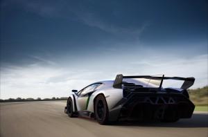 Silver Lamborghini Veneno HD Wallpaper 2014