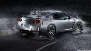 Silver Nissan GTR 2014 HD Wallpaper