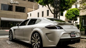 Silver Turbo Car