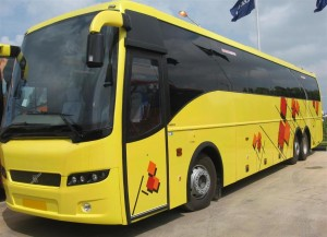 Yellow Volvo Bus