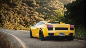 Yellow Lamborghini On Ride